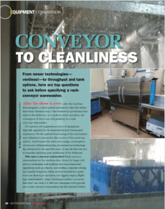 Conveyor to Cleanliness