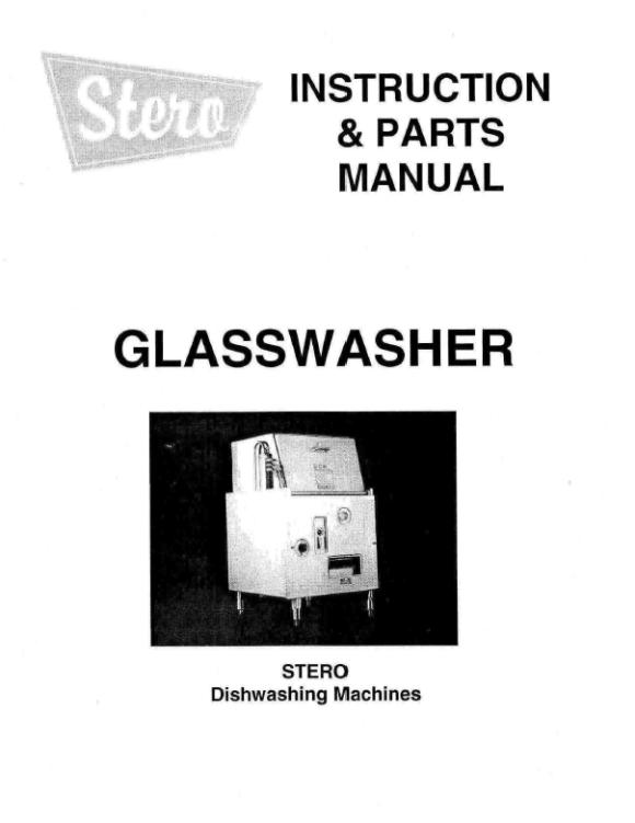 GlasswasherManualCover