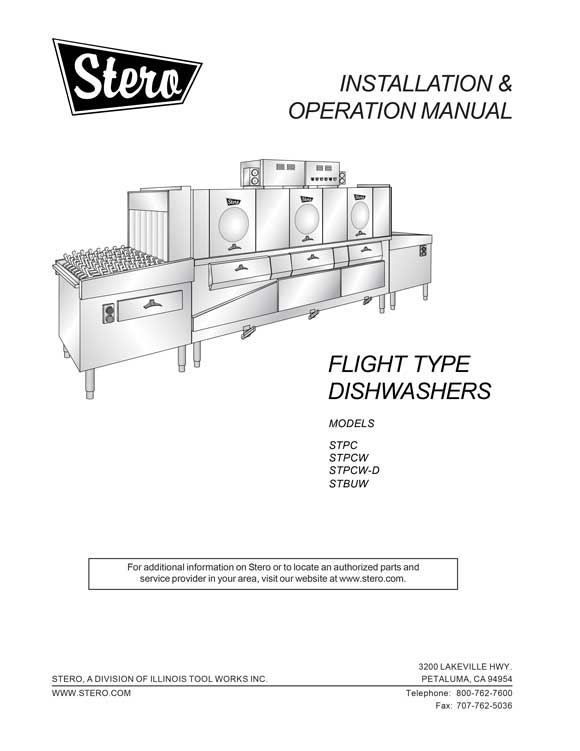 flight operators manual product manuals stero stero dishwasher wiring diagrams at gsmx.co