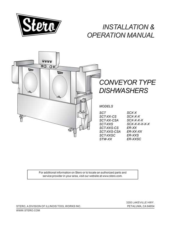rack conveyor operators manual product manuals stero stero dishwasher wiring diagrams at gsmx.co