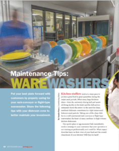 Maintenance Tips - Warewashers