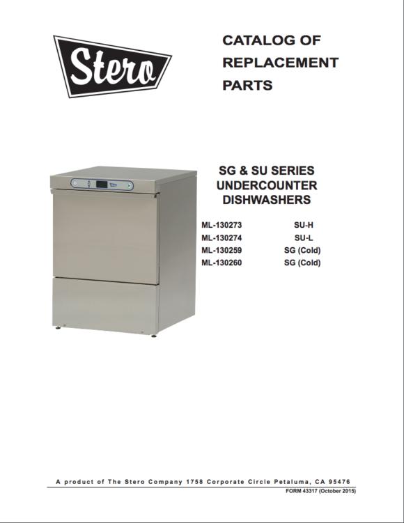 SG-SU Parts Manual Cover Image